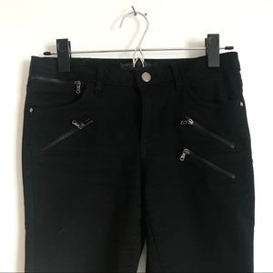 ZARA skinny zippered trousers
